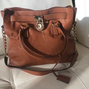 Michael Kors large tan Hamilton bag
